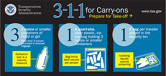 TSA 3-1-1 Guide for Carry-Ons